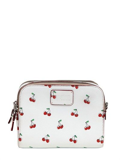 MARC BY MARC JACOBS Cherry Printed Leather Shoulder Bag, Beige. #marcbymarcjacobs #bags #shoulder bags #leather