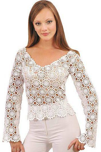 Bayan Desenli Bluz Örneği
