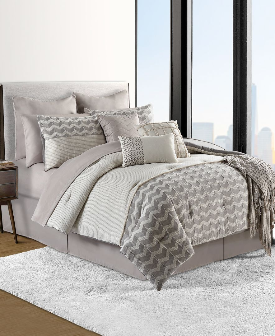 Sunham Finn Cotton 14Pc. California King Comforter Set
