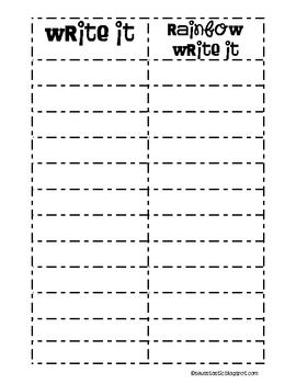 Daily 5 Work on Writing & Word Work Packet (FREEBIE