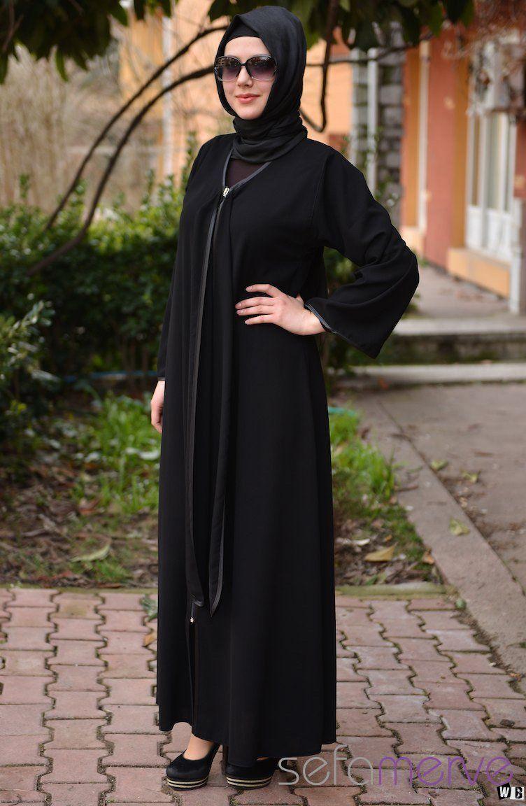 عبايات دبي 2015 صور عبايات 2015 خليجية سوداء اجمل عبايات خليجيه Fashion Women Abaya Designs