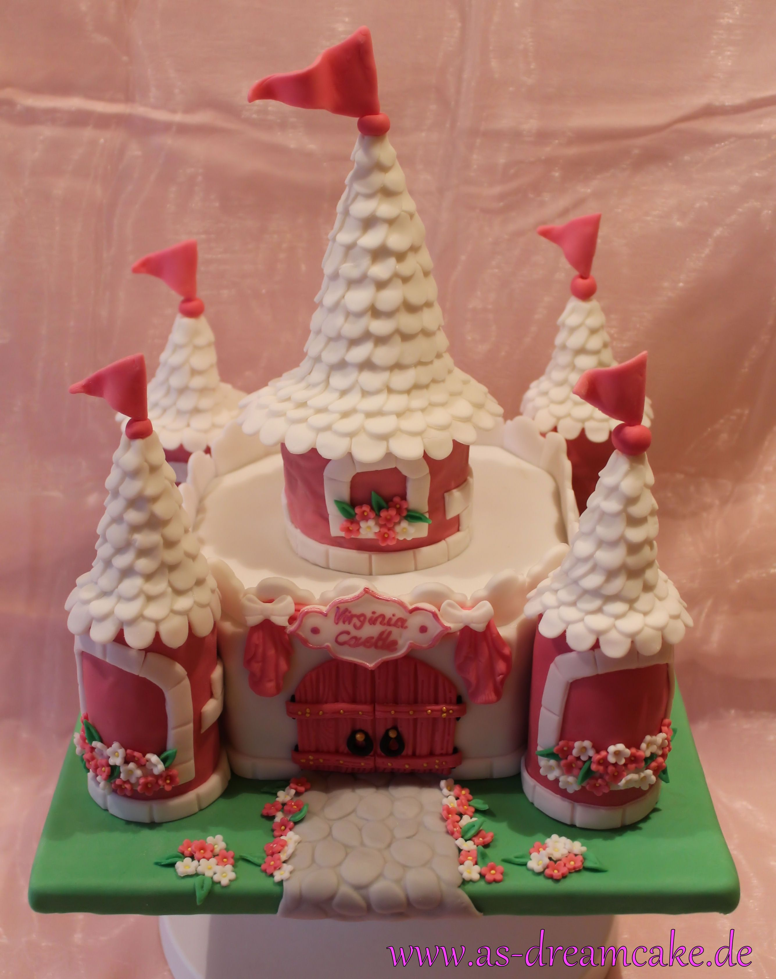 Prinzessinnen Schloss Torte Meine Tortenkreationen Pinterest