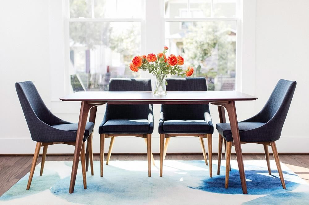Edloe Finch Atticus Dining Table Midcentury Modern Dining Table