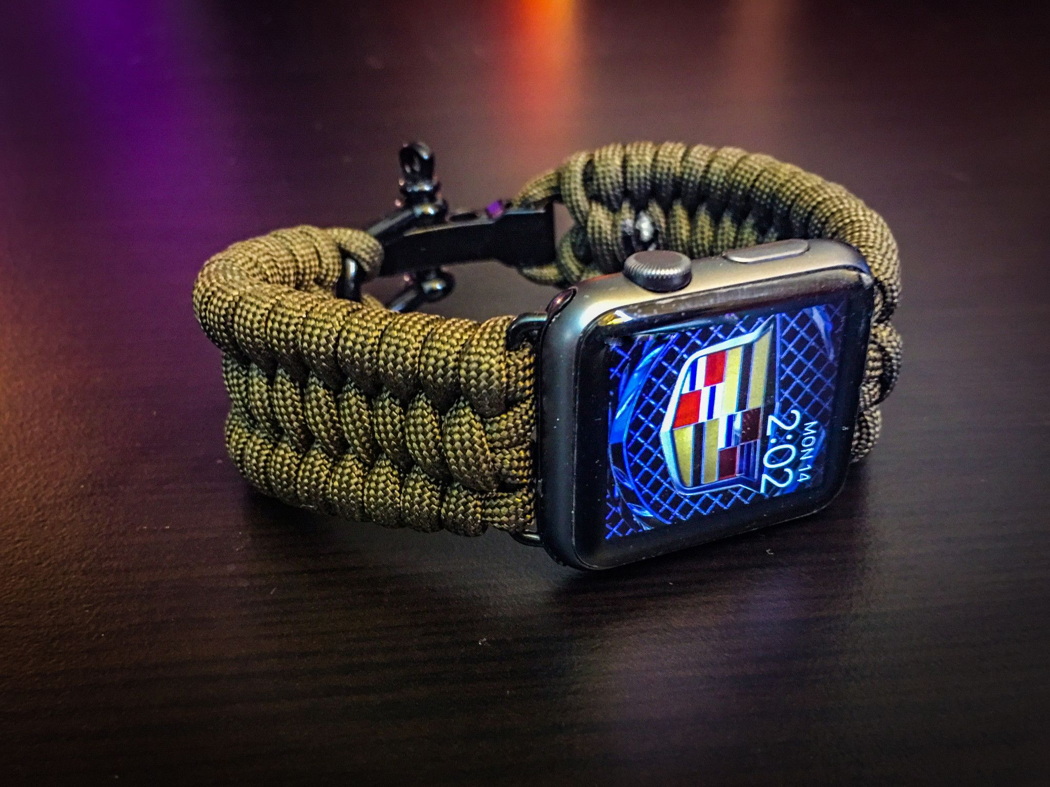 Apple Watch Paracord Band Trilobite Triple Weave Stainless