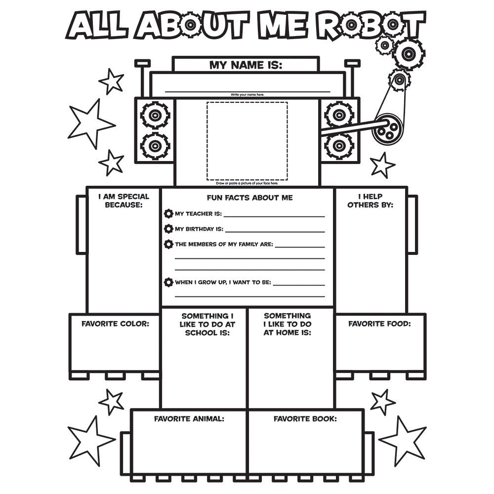 Scholastic Instant Personal Posters — All About Me Robot Item # 248876