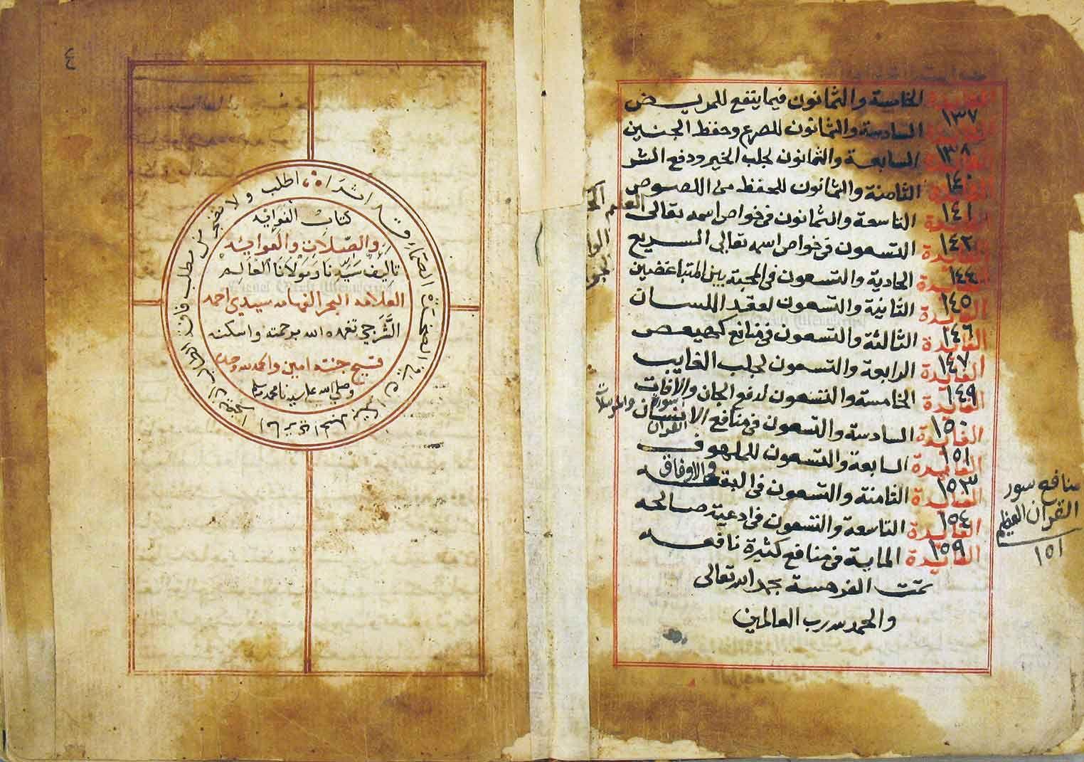 مخطوط الفوائد في الصلات والعوائد Elle Yazma Bilgi Duanin Gucu