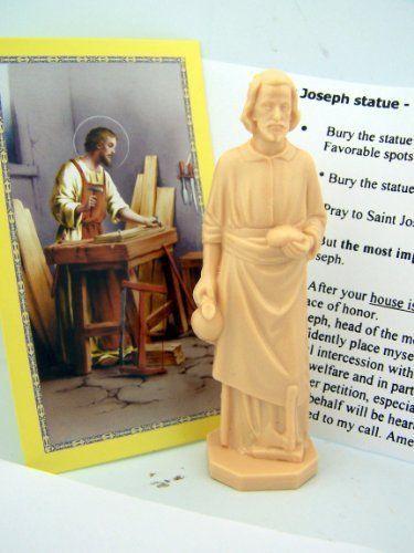 St Joseph Statue Home Seller Selling Kit Saint House Figurine