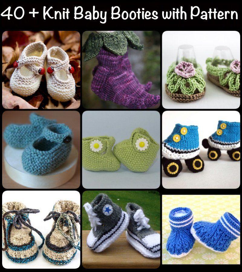 Quick Crochet Baby Booties with Bow   Botines de punto, Botas de ...