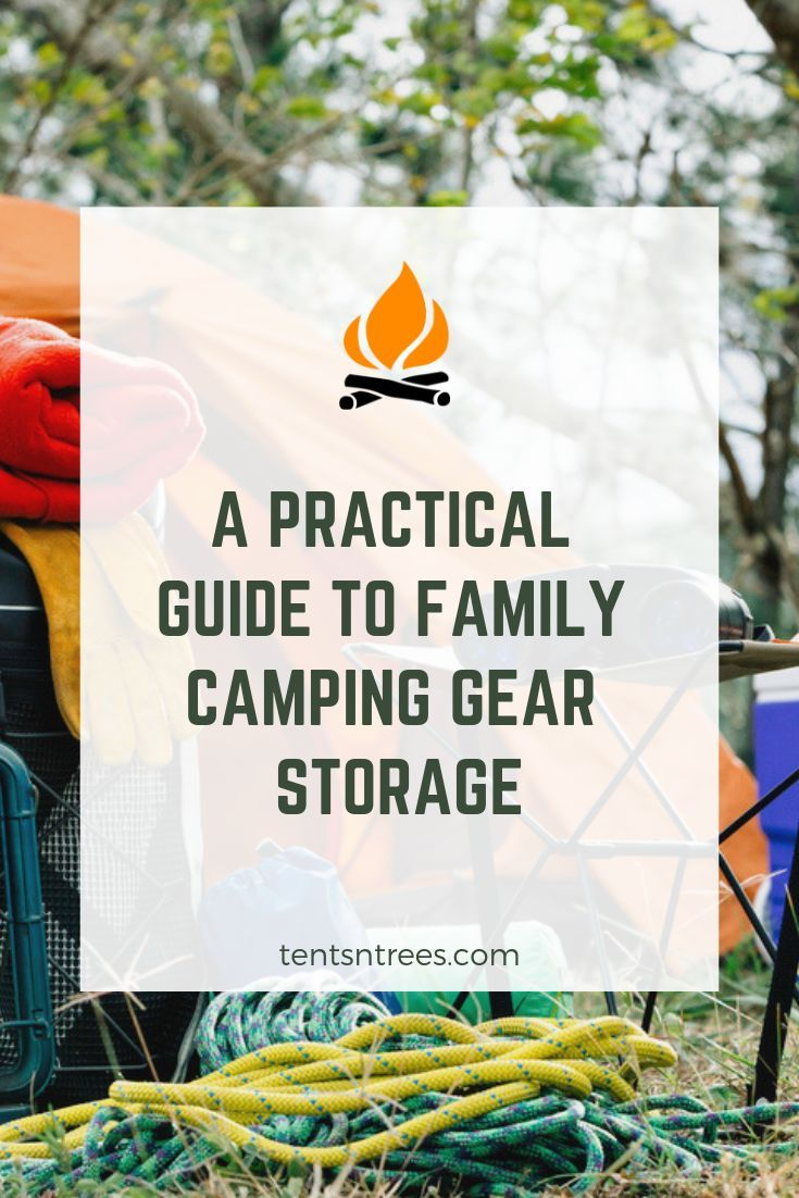 Photo of A practical guide to family camping storage. Easily find extra space to store ca…
