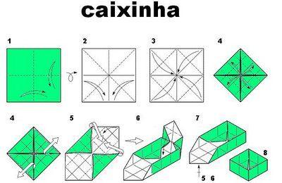 Caixa De Origami Projeção Para Loja Pinterest Origami