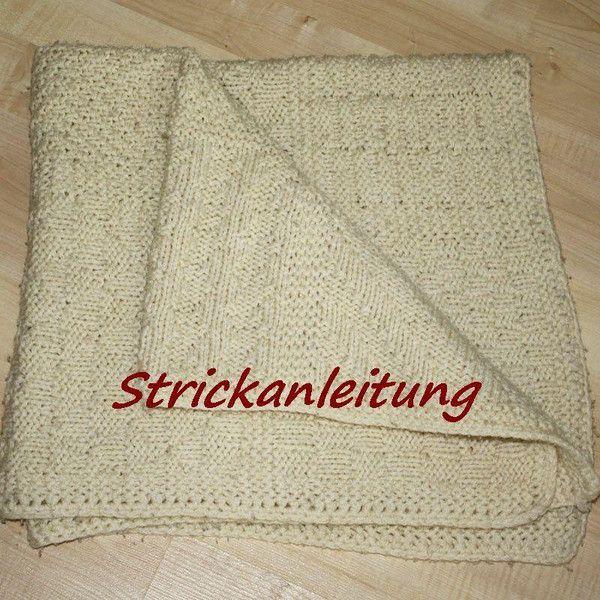 Strick Anleitung Babydecke Decke Patchwork Design | Babydecken ...