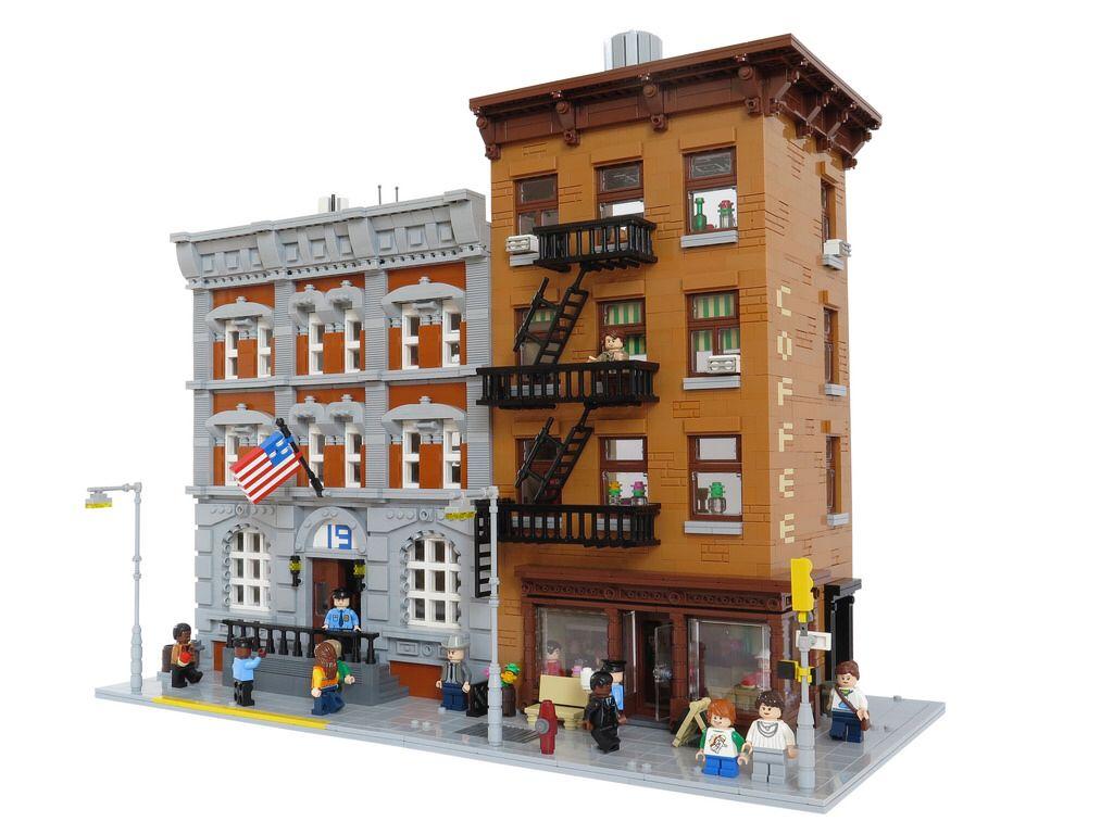 New York street corner Lego house, Lego, Lego architecture