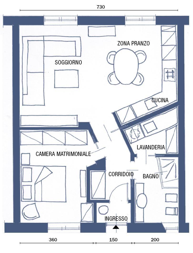 Bilocale Di 65 Mq Deluxe Di Ringhiera Cose Di Casa Planimetrie Di Case Planimetrie Dell Appartamento Piantine Di Case