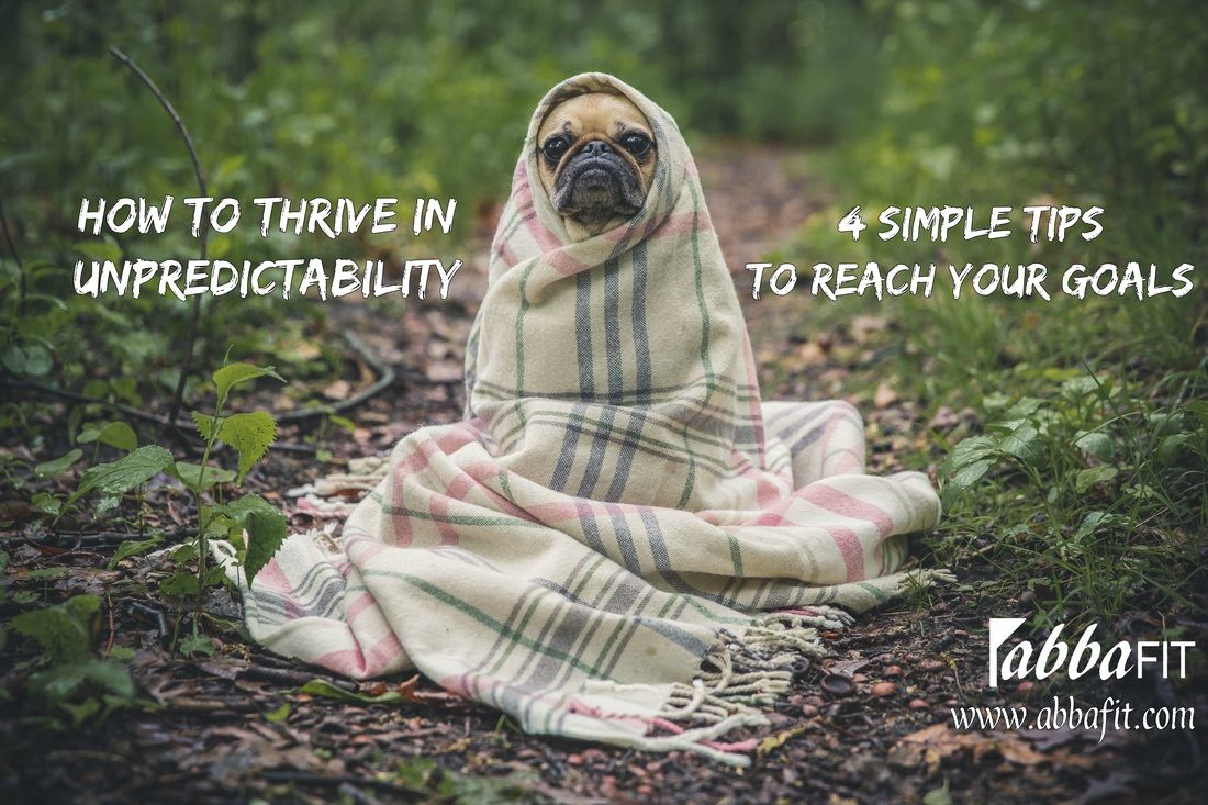 How to Thrive in Unpredictability. 4 Simple tips to reach your goals. www.abbafit.com
