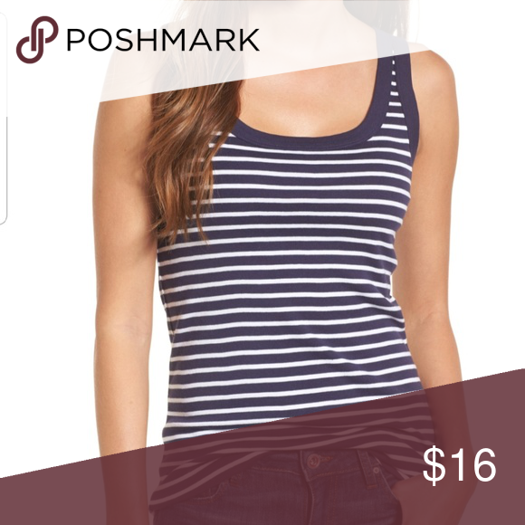 a947808dd470c3 NWOT Caslon Striped Tank This classic striped cotton tank is a wardrobe  staple! Perfect for layering or worn by itself. Fits true to size.