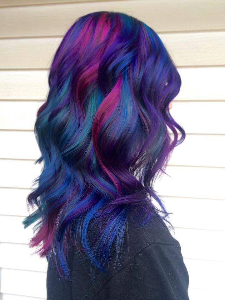 Cool Multicolored Hair By Www Danazhaircuts Scene