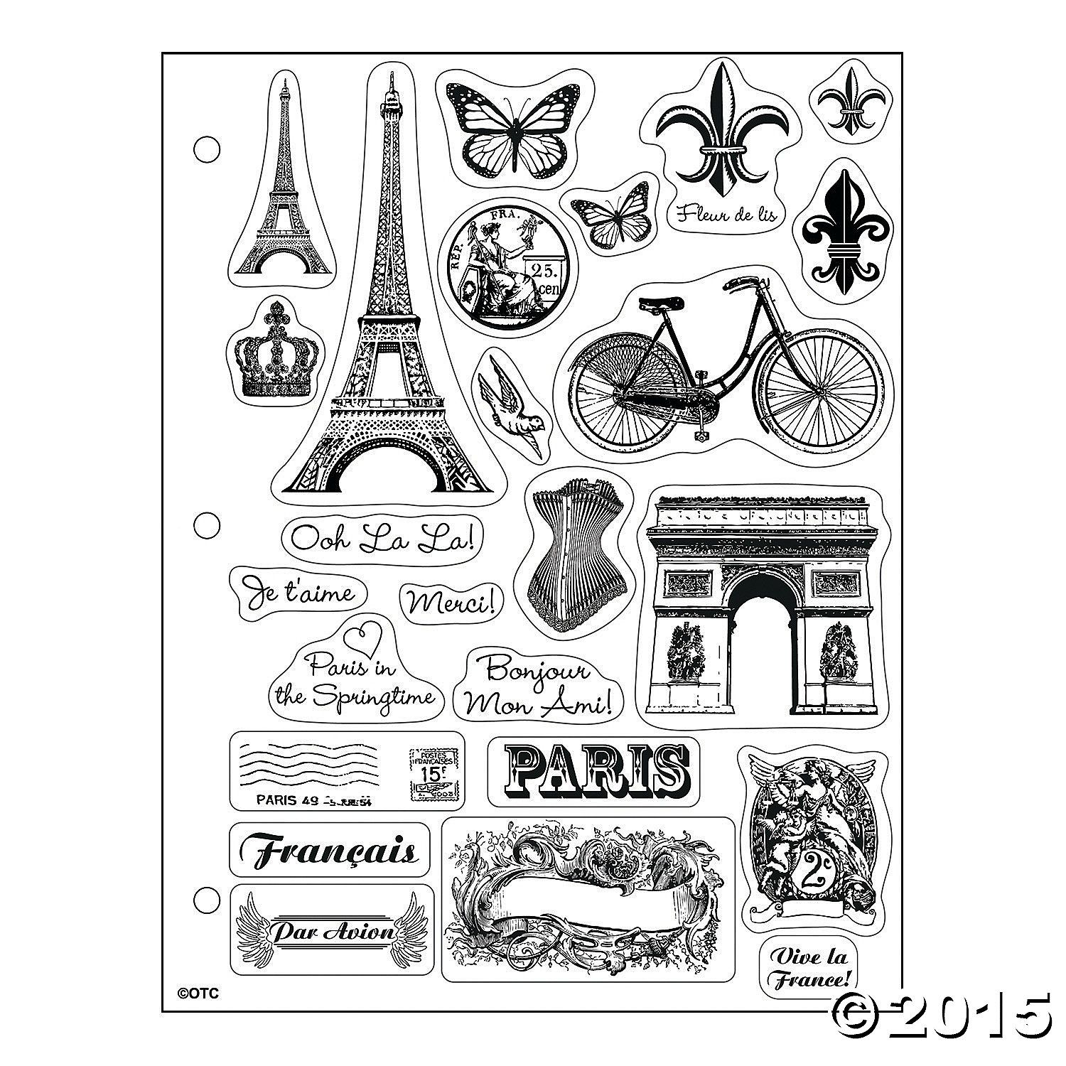 Paris Clear Stamps Orientaltrading