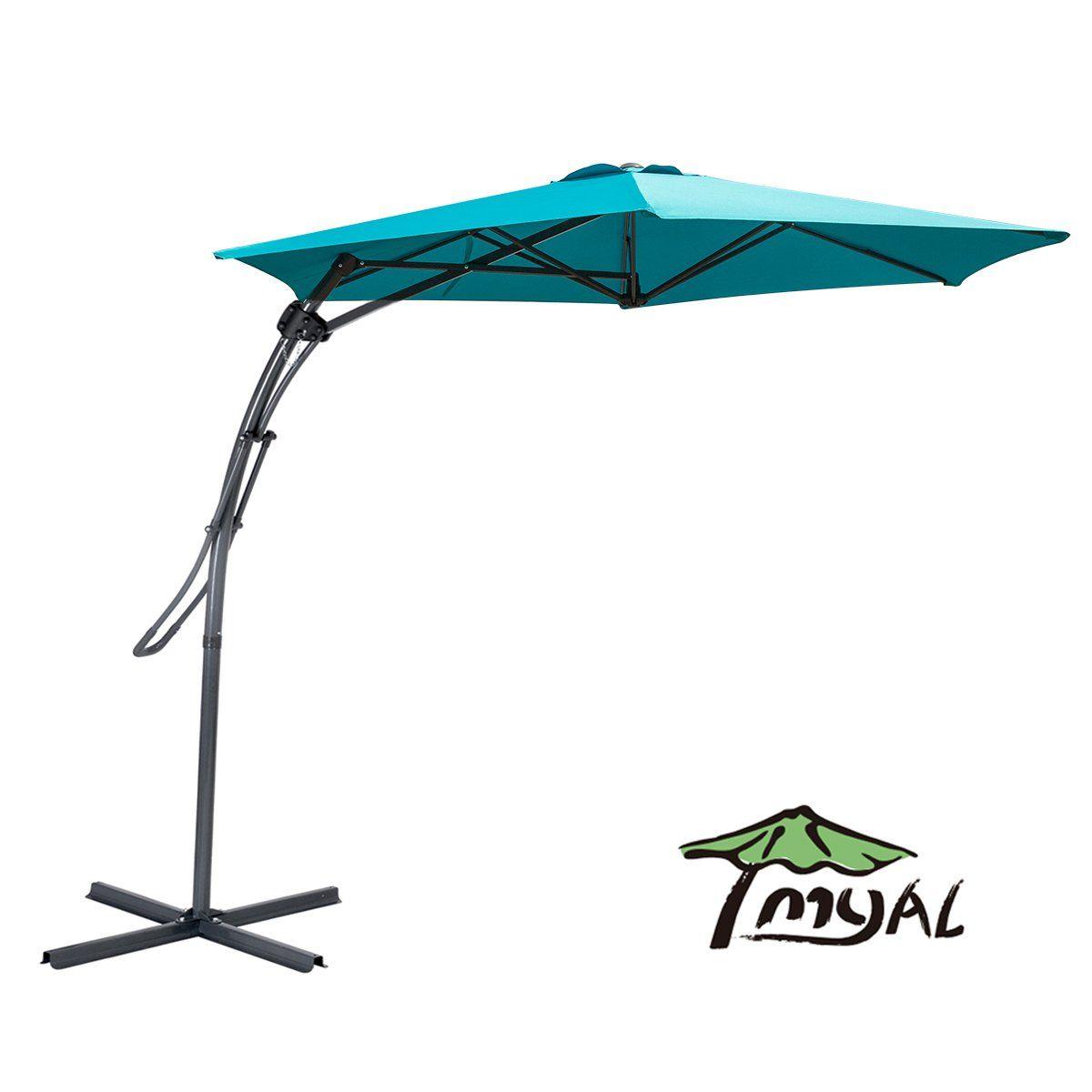 myal 9ft offset patio umbrella outdoor