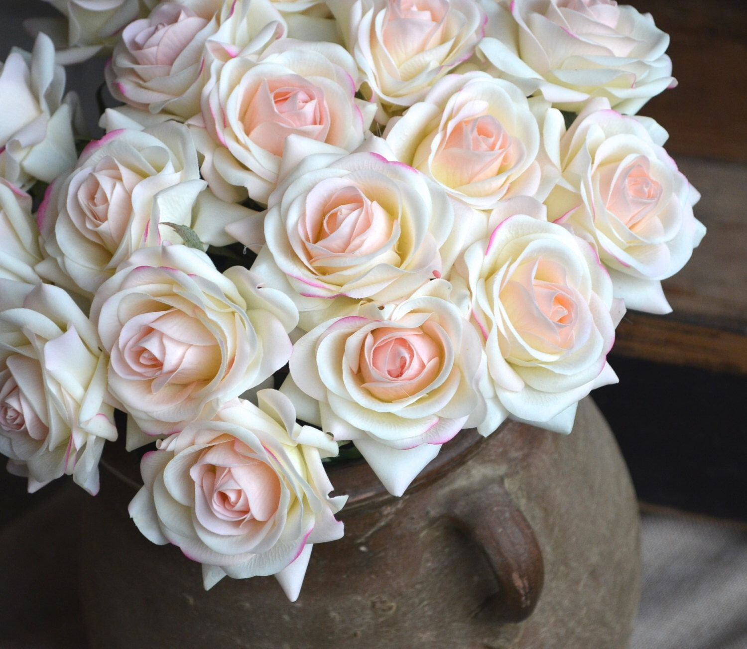 Light blush roses real touch flowers silk roses diy wedding flowers light blush roses real touch flowers silk roses diy wedding flowers silk bridal bouquets wedding centerpieces izmirmasajfo