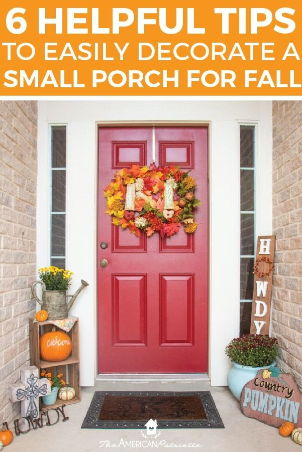 Ideas for decorating a small porch for fall / #Decorating #fall #Ideas #Porch #porchdecoratingfall #Small #falldecorideasfortheporch