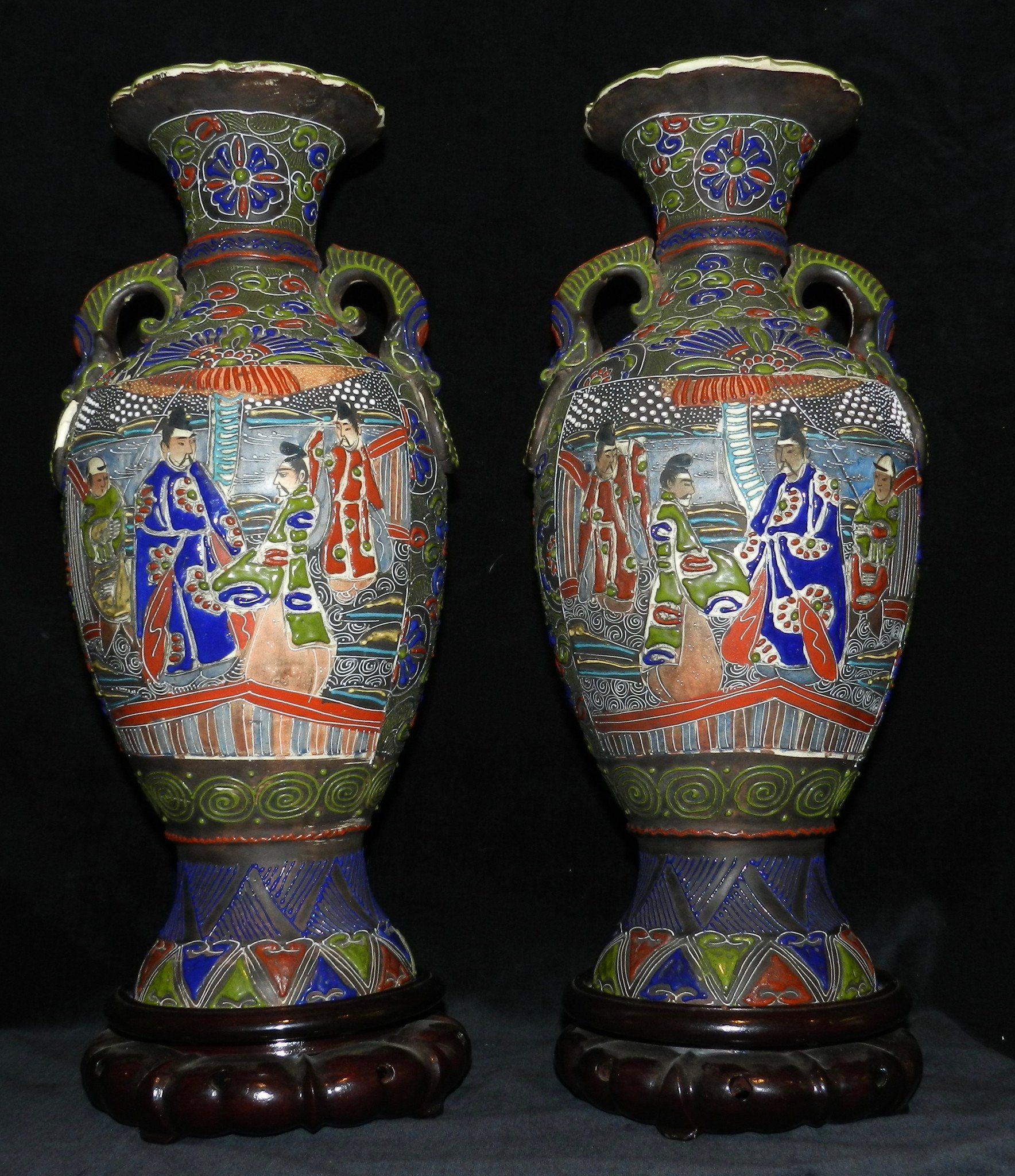 2 Antique Japanese Enamelled Vases Circa 1900 | Ceramics | Pinterest on decorative beads, decorative kitchenware, decorative porcelain, decorative containers, decorative art, decorative pillows, decorative curtains, decorative boxes, decorative bowls, decorative glassware, decorative pottery, decorative decanters, decorative cards, decorative bells, decorative index tabs, decorative perfume bottles, decorative glass, decorative planters, decorative flowers, decorative jugs,