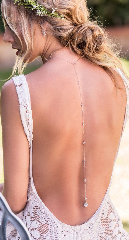 Margaux petite back pendant necklace wedding inspi pinterest