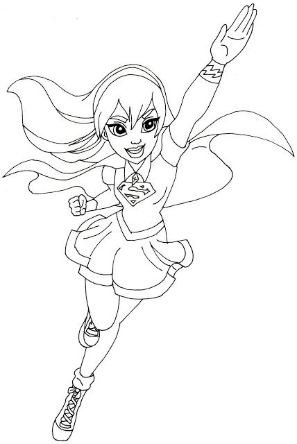 Supergirl Coloring Pages | Coloring Pages for monkey ...