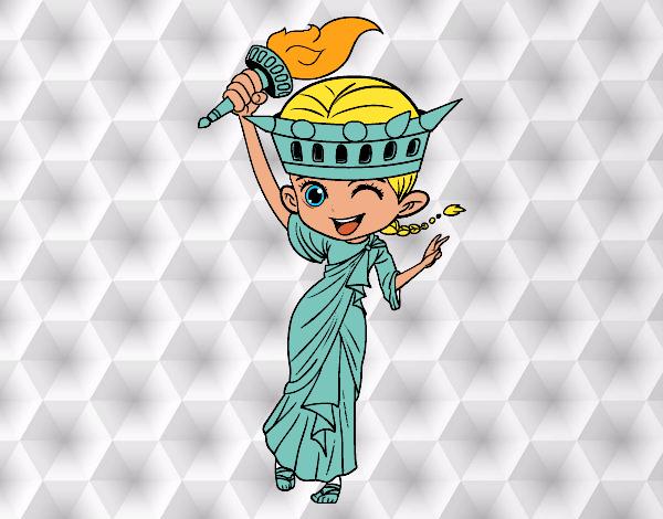 Resultado de imagen para dibujos kawaii estatua de la libertad | El ...