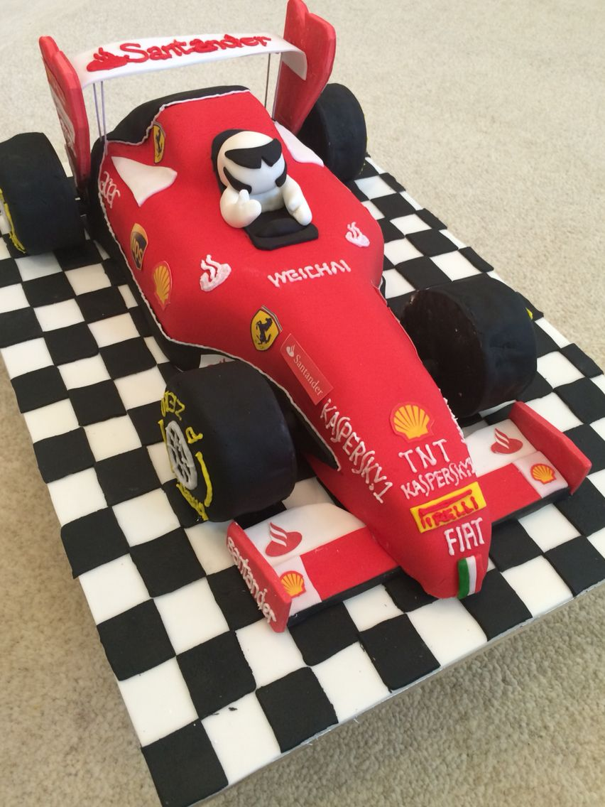Ferrari Formula One racing car cake 40th birthday ideas