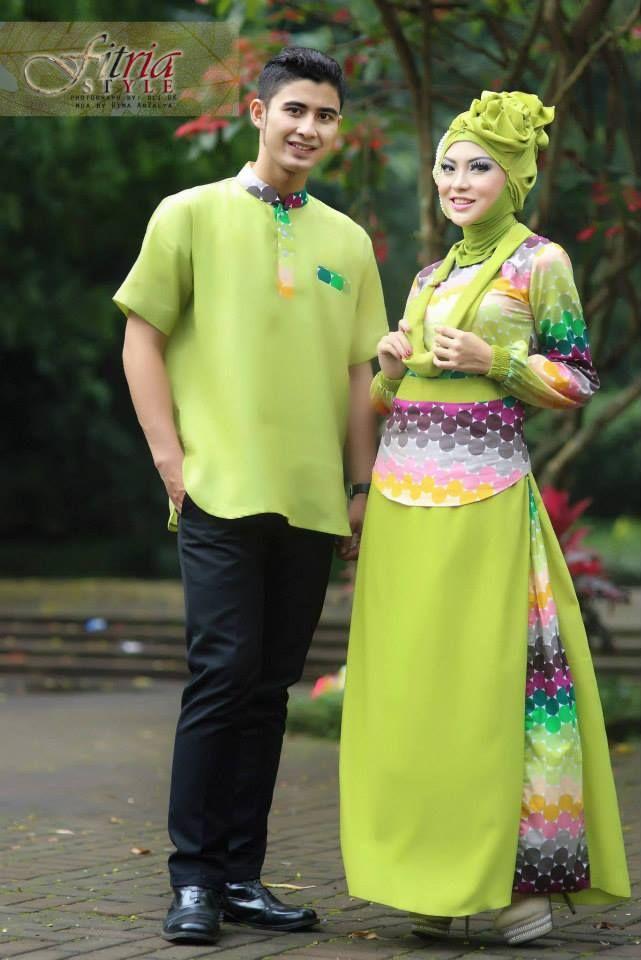 Baju Muslim Couple Dewa Dewi Hijau Avocado Batik Couples