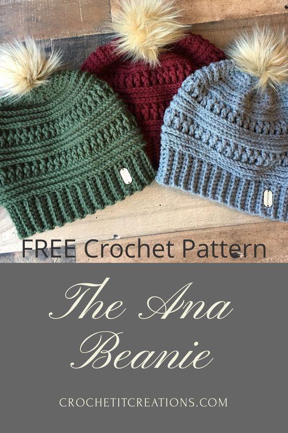The Ana Beanie Crochet Pattern by | Häkeln, Strick und Mütze