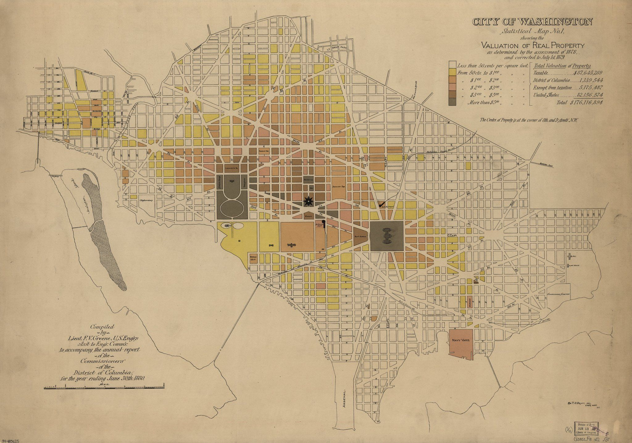 City Of Washington Property Values Map From