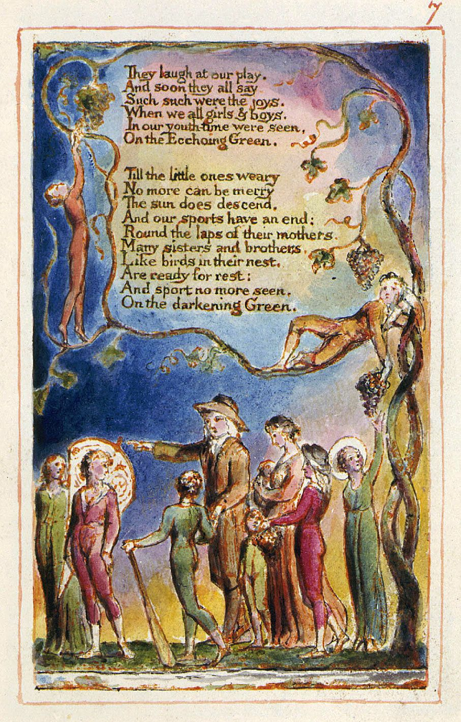 summary of the poem the echoing green by william blake