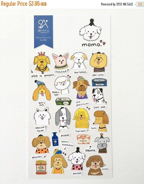 ON SALE Cute Dog Stickers