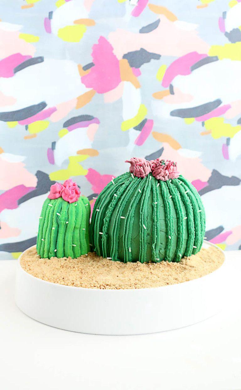 DIY Cactus Cake with Wilton Easy Bloom Flowers | JOANN ...
