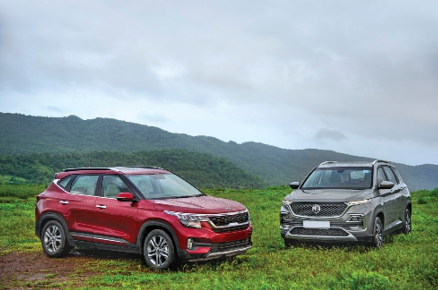 Mg Hector Kia Seltos Off To A Strong Start Kia Strong Diesel Engine