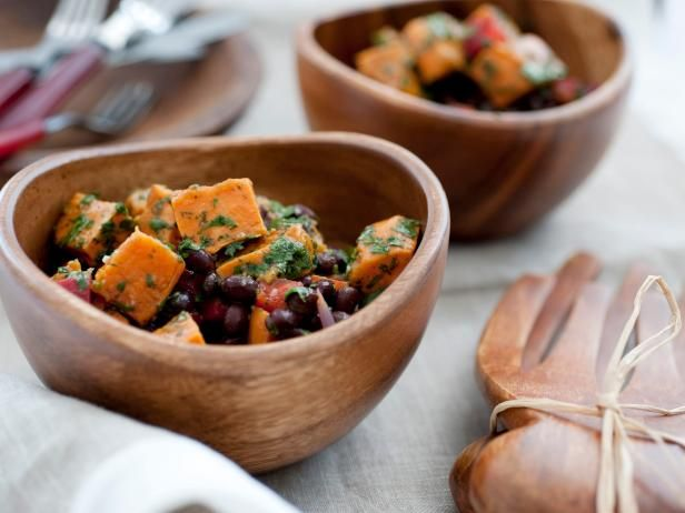 Roasted sweet potato salad with black beans and chili dressing roasted sweet potato salad with black beans and chili dressing forumfinder Image collections