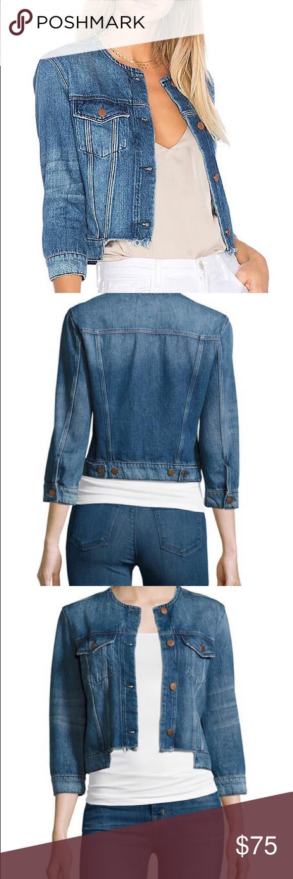 Nwot J Brand Catesby Denim Jean Jacket Frayed Frayed Denim Jacket Frayed Denim Denim [ 1740 x 580 Pixel ]