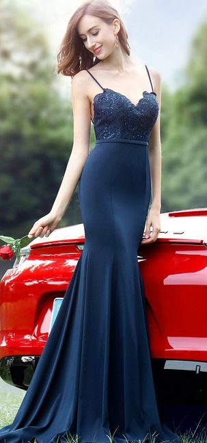 eDressit Spaghetti Straps Sweetheart Blue Lace Dress