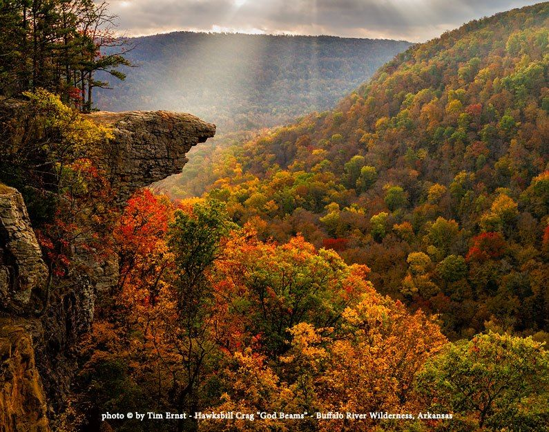 Tim Ernst S Stunning Photograph Of Whitaker Point Was Used To Illustrate The Backpacker Magazine Top 50 Views List Ozark Mountains River Trip River Falls
