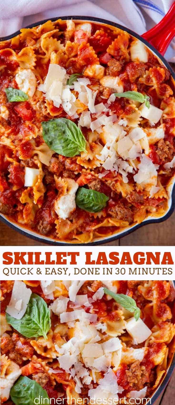 Photo of Easy Skillet Lasagna – Dinner, then Dessert