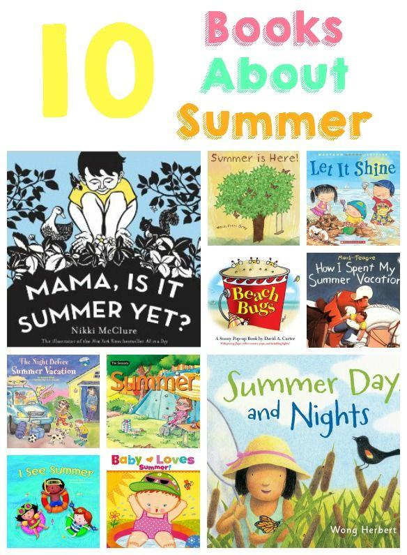 10 Books About Summer For Preschoolers #summer