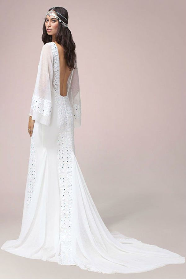 de 10 fotos de vestidos de novia ibicencos y hippies de 2017 | bodas