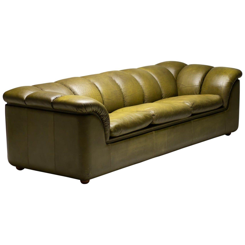 Olive Green Poltrona Frau Sofa In 2020 Poltrona Frau Leather Sofa Set Large Leather Sofas