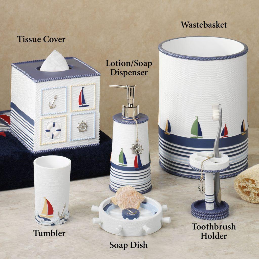Nautical Bathroom Accessories | Nautical bath | Pinterest | Nautical ...