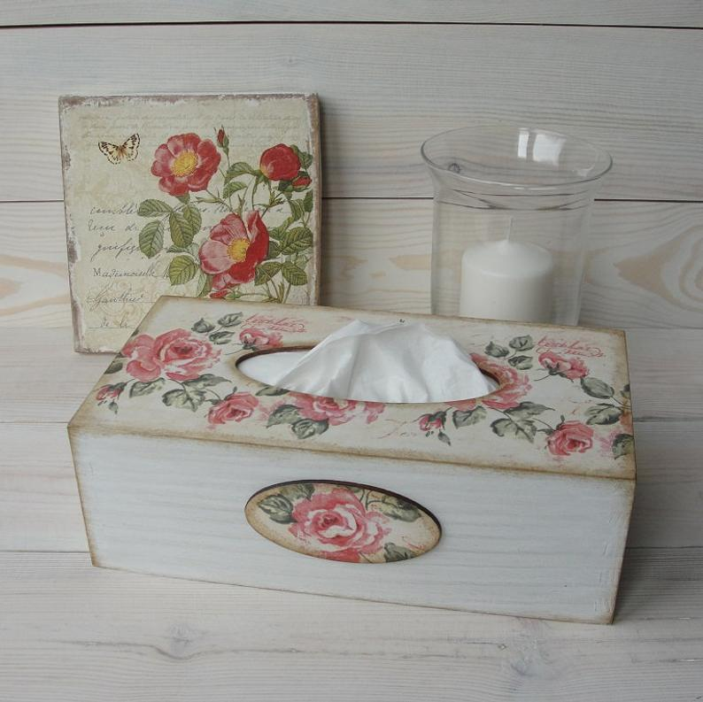 Wooden tissue box cover Tissue holder Kleenex box Kleenex