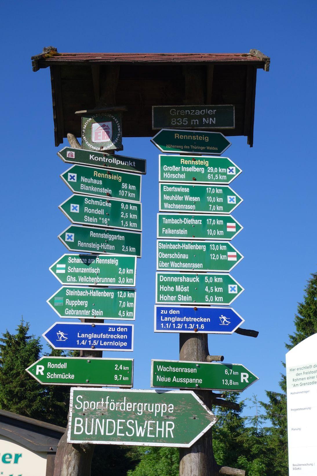 Rennsteig Wandern Etappe Schneekopf Oberhof Ebertswiese Rennsteig Oberhof Rennsteig Wandern