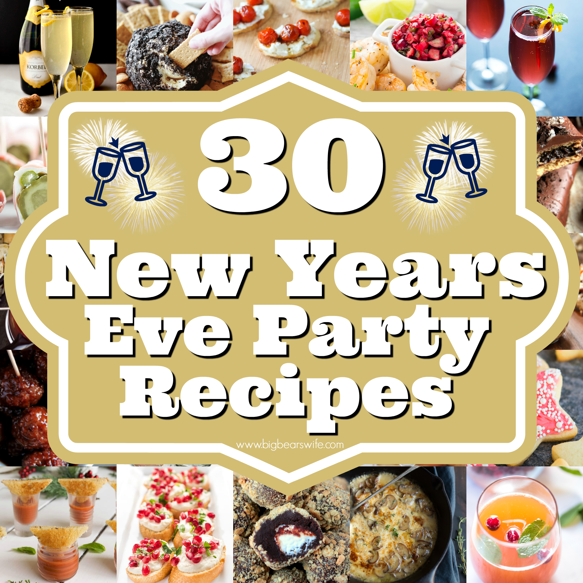 30 New Years Eve Party Recipes – Savory Ideas, Sweets and ...