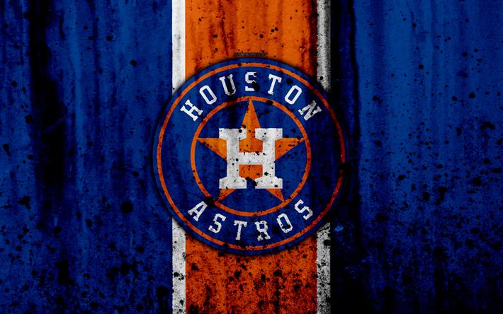 Download wallpapers 4k, Houston Astros, grunge, baseball
