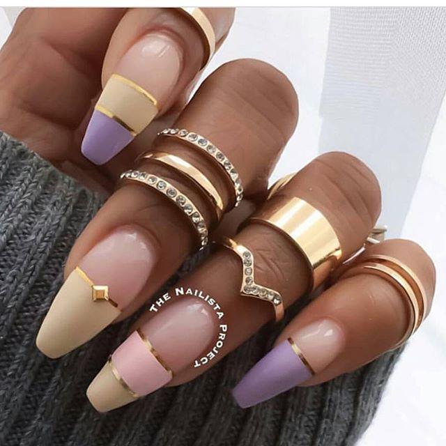 Beautiful Nail Design By Thenailistaproject Rings 6 For 10 Bucks Dmv Pop Up Shop This Saturd Diamond Nails Nails Gold Nails